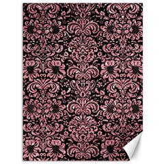 Damask2 Black Marble & Pink Glitter (r) Canvas 36  X 48   by trendistuff