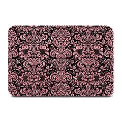 Damask2 Black Marble & Pink Glitter (r) Plate Mats by trendistuff