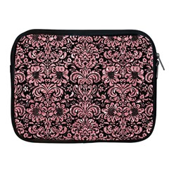 Damask2 Black Marble & Pink Glitter (r) Apple Ipad 2/3/4 Zipper Cases by trendistuff