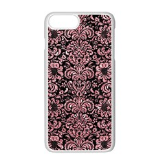 Damask2 Black Marble & Pink Glitter (r) Apple Iphone 7 Plus Seamless Case (white) by trendistuff