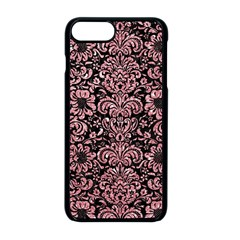 Damask2 Black Marble & Pink Glitter (r) Apple Iphone 8 Plus Seamless Case (black)