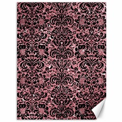 Damask2 Black Marble & Pink Glitter Canvas 36  X 48   by trendistuff