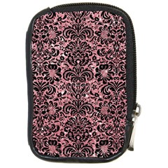 Damask2 Black Marble & Pink Glitter Compact Camera Cases