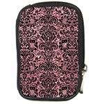 DAMASK2 BLACK MARBLE & PINK GLITTER Compact Camera Cases Front