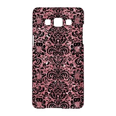 Damask2 Black Marble & Pink Glitter Samsung Galaxy A5 Hardshell Case  by trendistuff
