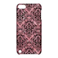 Damask1 Black Marble & Pink Glitter Apple Ipod Touch 5 Hardshell Case With Stand by trendistuff