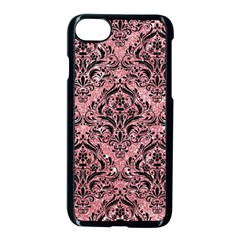 Damask1 Black Marble & Pink Glitter Apple Iphone 8 Seamless Case (black) by trendistuff