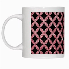 Circles3 Black Marble & Pink Glitter (r) White Mugs by trendistuff