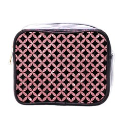 Circles3 Black Marble & Pink Glitter (r) Mini Toiletries Bags by trendistuff