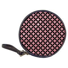 Circles3 Black Marble & Pink Glitter Classic 20 Cd Wallets by trendistuff