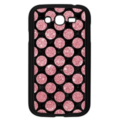Circles2 Black Marble & Pink Glitter (r) Samsung Galaxy Grand Duos I9082 Case (black) by trendistuff