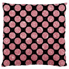 Circles2 Black Marble & Pink Glitter (r) Standard Flano Cushion Case (one Side) by trendistuff