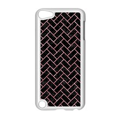 Brick2 Black Marble & Pink Glitter (r) Apple Ipod Touch 5 Case (white) by trendistuff