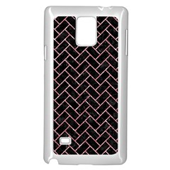Brick2 Black Marble & Pink Glitter (r) Samsung Galaxy Note 4 Case (white) by trendistuff