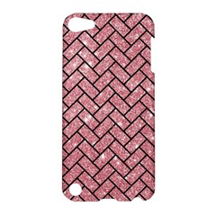 Brick2 Black Marble & Pink Glitter Apple Ipod Touch 5 Hardshell Case by trendistuff
