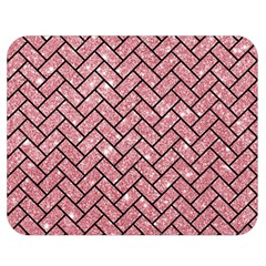Brick2 Black Marble & Pink Glitter Double Sided Flano Blanket (medium)  by trendistuff
