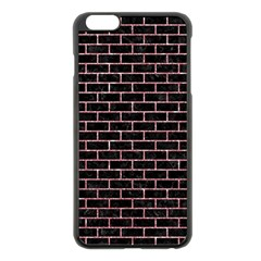 Brick1 Black Marble & Pink Glitter (r) Apple Iphone 6 Plus/6s Plus Black Enamel Case by trendistuff