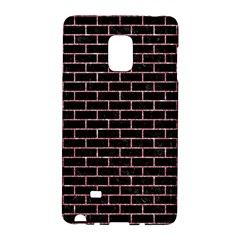 Brick1 Black Marble & Pink Glitter (r) Galaxy Note Edge
