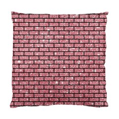 Brick1 Black Marble & Pink Glitter Standard Cushion Case (two Sides) by trendistuff