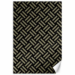Woven2 Black Marble & Khaki Fabric (r) Canvas 24  X 36  by trendistuff