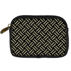 Woven2 Black Marble & Khaki Fabric (r) Digital Camera Cases by trendistuff