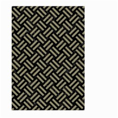 Woven2 Black Marble & Khaki Fabric (r) Large Garden Flag (two Sides) by trendistuff