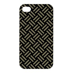 Woven2 Black Marble & Khaki Fabric (r) Apple Iphone 4/4s Premium Hardshell Case by trendistuff