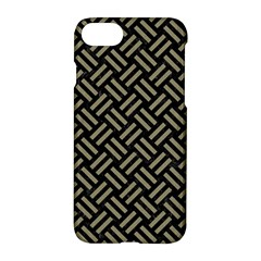 Woven2 Black Marble & Khaki Fabric (r) Apple Iphone 7 Hardshell Case by trendistuff