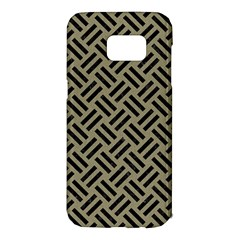 Woven2 Black Marble & Khaki Fabric Samsung Galaxy S7 Edge Hardshell Case by trendistuff