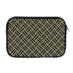 Woven2 Black Marble & Khaki Fabric Apple Macbook Pro 17  Zipper Case by trendistuff