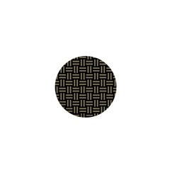 Woven1 Black Marble & Khaki Fabric (r) 1  Mini Magnets by trendistuff