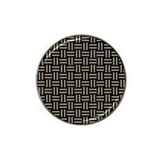 Woven1 Black Marble & Khaki Fabric (r) Hat Clip Ball Marker (4 Pack) by trendistuff