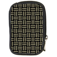 Woven1 Black Marble & Khaki Fabric (r) Compact Camera Cases by trendistuff