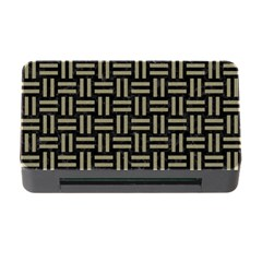 Woven1 Black Marble & Khaki Fabric (r) Memory Card Reader With Cf by trendistuff