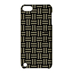 Woven1 Black Marble & Khaki Fabric (r) Apple Ipod Touch 5 Hardshell Case With Stand by trendistuff