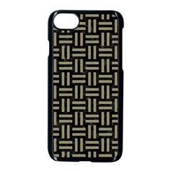 Woven1 Black Marble & Khaki Fabric (r) Apple Iphone 7 Seamless Case (black) by trendistuff