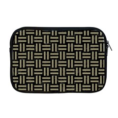 Woven1 Black Marble & Khaki Fabric (r) Apple Macbook Pro 17  Zipper Case by trendistuff