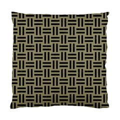 Woven1 Black Marble & Khaki Fabric Standard Cushion Case (two Sides) by trendistuff