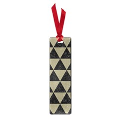 Triangle3 Black Marble & Khaki Fabric Small Book Marks by trendistuff
