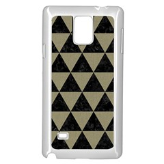 Triangle3 Black Marble & Khaki Fabric Samsung Galaxy Note 4 Case (white) by trendistuff