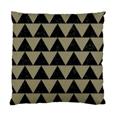 Triangle2 Black Marble & Khaki Fabric Standard Cushion Case (one Side) by trendistuff