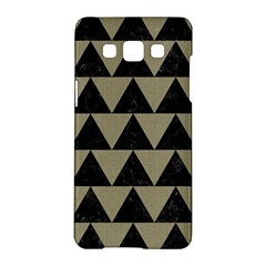 Triangle2 Black Marble & Khaki Fabric Samsung Galaxy A5 Hardshell Case  by trendistuff