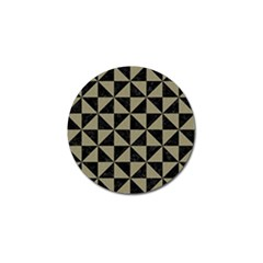 Triangle1 Black Marble & Khaki Fabric Golf Ball Marker (4 Pack) by trendistuff