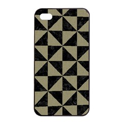 Triangle1 Black Marble & Khaki Fabric Apple Iphone 4/4s Seamless Case (black) by trendistuff