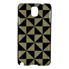 Triangle1 Black Marble & Khaki Fabric Samsung Galaxy Note 3 N9005 Hardshell Case by trendistuff