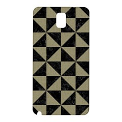 Triangle1 Black Marble & Khaki Fabric Samsung Galaxy Note 3 N9005 Hardshell Back Case by trendistuff