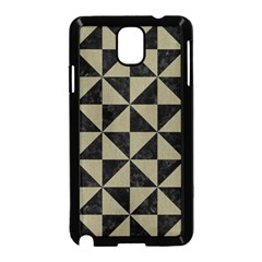 Triangle1 Black Marble & Khaki Fabric Samsung Galaxy Note 3 Neo Hardshell Case (black) by trendistuff