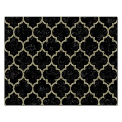 Tile1 Black Marble & Khaki Fabric (r) Rectangular Jigsaw Puzzl by trendistuff