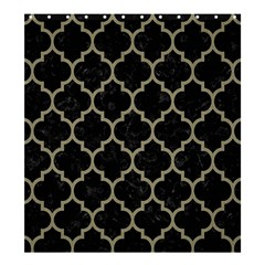 Tile1 Black Marble & Khaki Fabric (r) Shower Curtain 66  X 72  (large)  by trendistuff