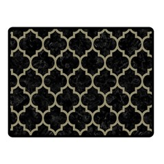 Tile1 Black Marble & Khaki Fabric (r) Double Sided Fleece Blanket (small)  by trendistuff